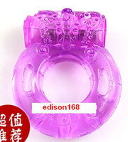 Wholesale 10pcs vibrating ring cock ring sex toy sex vibrator penis ring with Condom