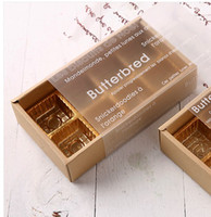 Wholesale cupcake grid transparent color chocolate brown paper box drawer