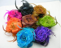 Wholesale Show headwear hair accessory Bohemian manual feather catch clip