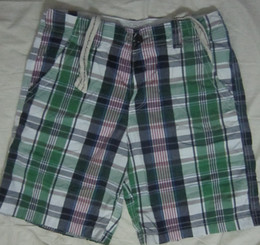 Wholesale Mens Green Plaid Cotton Cargo Shorts Short Fit NWT MIX OF