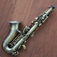 Wholesale 2012 TOP antique soprano curved sax SAXOPHONE high F with case