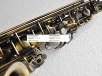 Wholesale 2012 Super antique bronze alto saxophone high F saxofon nice engraving NEW case