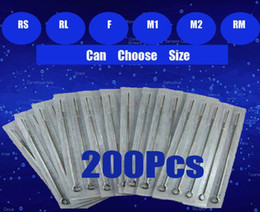 Wholesale 200pcs Sterile Tattoo Needle Needles Assorted For Tattoo Gun Ink Kits Supplies