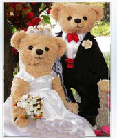 Wholesale hot Teddy bear Mascot Costumes For valentine s day wedding appliance Mascot Costumes Show Clothing