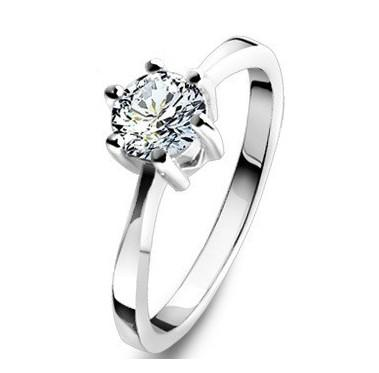 classic wedding ring real 925 sterling silver jewelry rings fashion elegant diamond engagement ring - Classic Wedding Rings