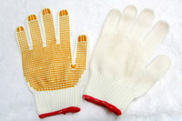 Wholesale Freeshipping PVC Plastic Coating Economical Point Beads Gloves shares of needles pairs
