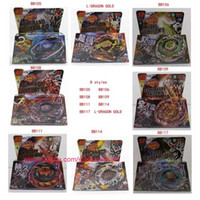 Wholesale 8 Styles Clash Metal D Beyblades Spinning Tops BB105 BB106 BB108 BB109 BB111 BB114 BB117