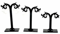 Wholesale jewelry display mix size set set black earrings display holder stand tree jewellry display