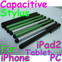 Wholesale Capacitive Screen Stylus Pen with Clip for iPhone S Tablet PC iPad iPad2 mix color