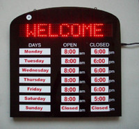 LED business open hour sign LED sign board LED signs 5PCS fr...