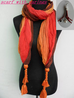 Wholesale NEW fashion voile scarves womens scarves shawls novel scarves cotton scarves with earings