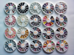 Wholesale 320 wheels Nail art Mixed glitter Color Rhinestone polymer clay fruit flower slice pearl Beads NA090