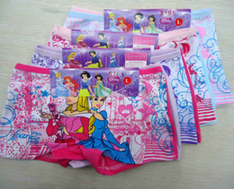Wholesale Kids Underwear Girls Underpants Snow White Shorts Pants Colorful Cotton Boxer Briefs Princess