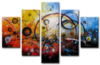 abstract items - Framed item Oil Wall Art Handpainted Wall Canvas Art Modern Abstract Canvas Oil Painting AB
