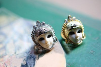 Women's african dolls - New Arrivals Gold Plated Jewelry Women Fashion Finger Rings Personality Egyptian Dolls Mask Ring