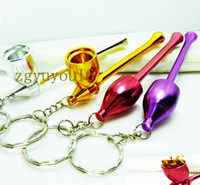 Wholesale hot sale Diy Novelty smoking pipe magic keychains promotional gifts Mushrooms pipe key chain