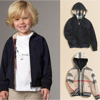 Wholesale Boys Clothing Boys Outerwear Hoodie black jacket Amphibious coat Autumn outfit R3474