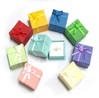 Wholesale Elegant gift boxes jewelry display rings boxes mix color jewelry gift box for ring