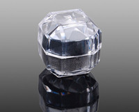 Wholesale 50pcs jewelry display clean crystal ring box elegant gift boxes fashion pretty jewellry rings boxes