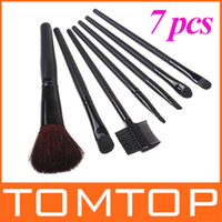 Wholesale 5 sets Black Goat Hair Nylon Wooden Makeup Brush Set Make Up Brush H4453