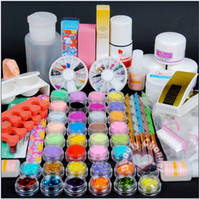 No acrylic nail powder - Acrylic Powder Liquid KITS Primer UV NAIL ART TIP Set Dust Stickers Brush