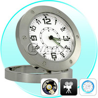 Wholesale Table Clock Style Spy Pinhole Camera Digital Video Recorder with Web Camera White SS107567