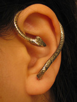 Wholesale Brand NEW HOT SILVER Snake Cartilage Earrings Wrap Clip Ear Cuff Factory Price