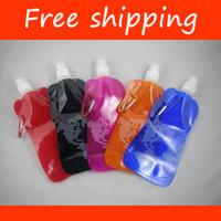 Wholesale Outlet BPA free foldable water bottle foldable travel bottle map pattern drinking bottle FD60B