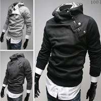 Long Sleeve Men Cotton Wholesale _ hao_bag New Men's Clothing Men's Hoodies & Sweatshirts Apparel Black