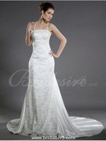 Castle Summer Appliqué Sleeveless stretch satin train a word skirt church wedding dress, fashionable