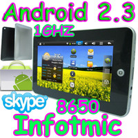 Wholesale 10pcs quot Infotmic Android X210 GHZ GB Tablet PC Flash Wifi market skype MID epad flytouch