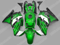 Wholesale Green White ABS bodywork Fairing kit FOR Honda CBR600 F2
