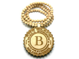 Wholesale 10PCS Hip Hop WOODEN THE BLACK WALL STREET PENDANT INCH GOOD WOOD BEADED NECKLACE CHAIN