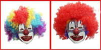 Wholesale Halloween mask mask dance festival clown mask dress up the clown masks clown wig