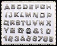 Whole Body auto letter emblems - 400pcs D Car Auto Emblem Badge Decals Chrome Letters Stickers Car stickers Bumper Stickers