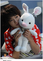 Wholesale New cm Cleanrance High quality Girl Pig Rabbit Doll SBS Drama quot u r so beautiful children kid gift toy