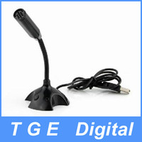 Wholesale USB Desktop Mini Studio Speech Mic Microphone with Stand Black