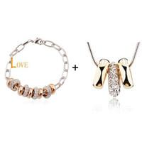 Wholesale Jewelry Sets Fashion Hot Cheap Necklace Bracelets Set Lady s Jewelry Sets Ornament Charm Jewelry