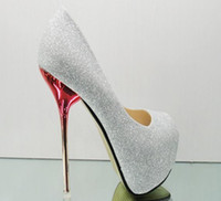 Wholesale 2012 the fish mouth shoes CM sexy high heels Single shoes Light gray