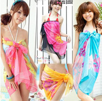 Wholesale women s sarong cover up miss swimwear beach scarf Pareo Dress skirt