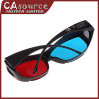 Wholesale Fashion Red Cyan Blue Anaglyph D Vision Myopia General Glasses With Black Frame For D Movies Games