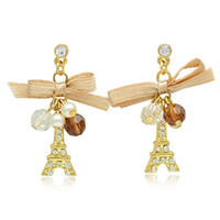Bead&Alloy beautiful stories - 24PAIRS Beautiful Nice Gold Color Paris Story Earrings Fashion earring Stud earring Tower earring