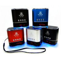 Wholesale SD Mini HiFi Portable Card Reader Speaker with USB Flash Drive Micro SD FM Radio Mix Color