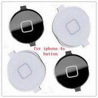 Wholesale hot push button phone s replacement repair button key white black original quality goods cellphone