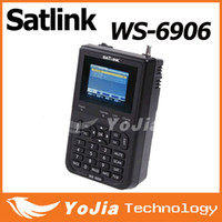 Wholesale 1pc Original Satlink WS quot DVB S FTA digital satellite meter satellite finder ws6906 post