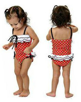 Wholesale Baby girl Swimwear Swim Suit cap skirt set for chirdren toddler