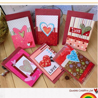 Valentine's Day   Lover's heart greeting card with red envelope gift card mini size 12 mixed atterns