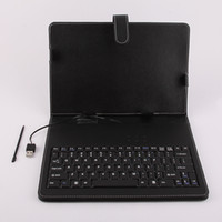 Wholesale 7 inch quot Leather case with USB keyboard for apad epad ZT X220 Flytouch tablet Case