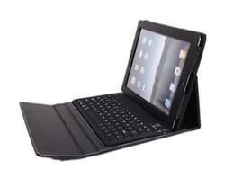 La peau de couverture de cas de cuir de clavier de Bluetooth sans fil pour iPad2 ipad 2 1 à partir de ipad2 étui en cuir clavier fabricateur