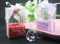 Cheap good Quality Kate Aspen Wedding gift party favor crystal Diamond Ring Keychain,Gem Napkin Rings